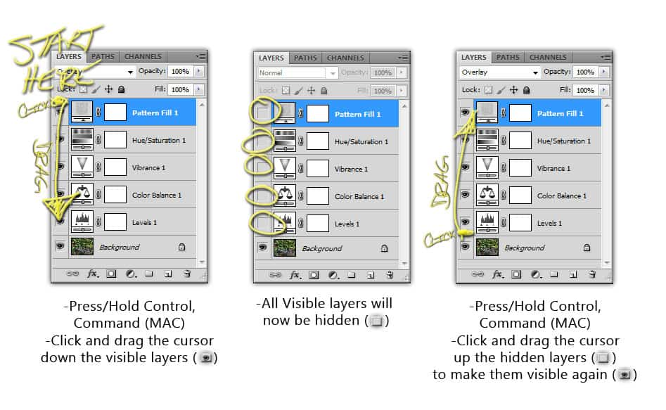 Quick Tip: Hiding Layers Quickly