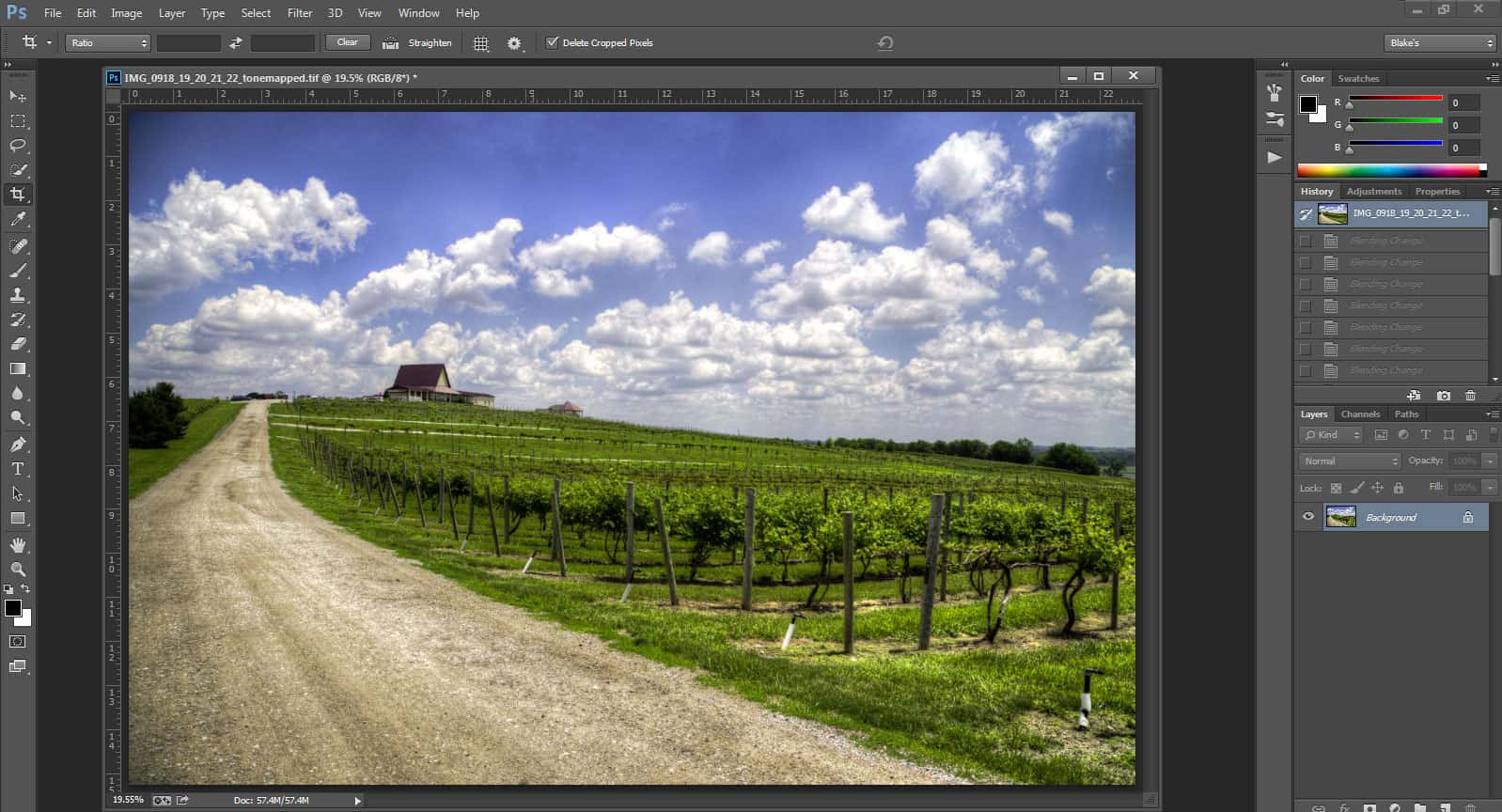 how to delete photoshop interface