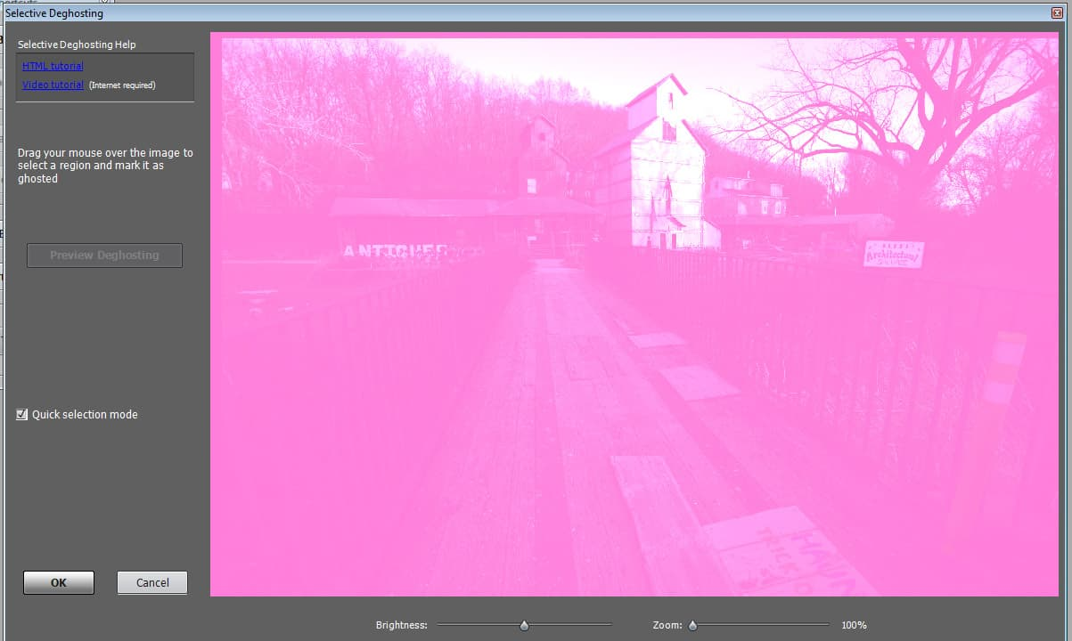 Photomatix Pink Screen Problem