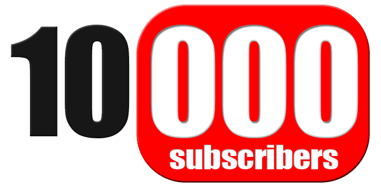 10,000 Subscribers on YouTube!!!