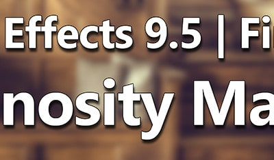 Perfect Effects 9.5   Luminosity Masking