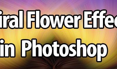 Spiral Flower Fun in Photoshop