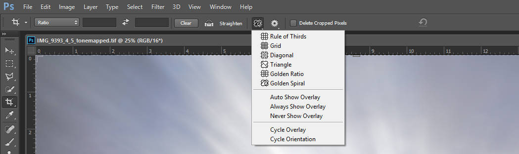 Crop Tool Features