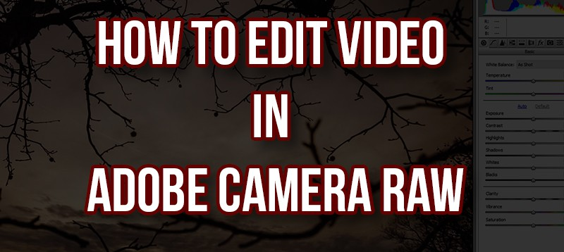 How to edit Videos in Adobe Camera Raw