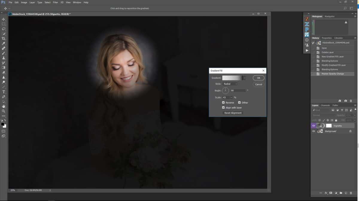 Gradient Vignette in Photoshop