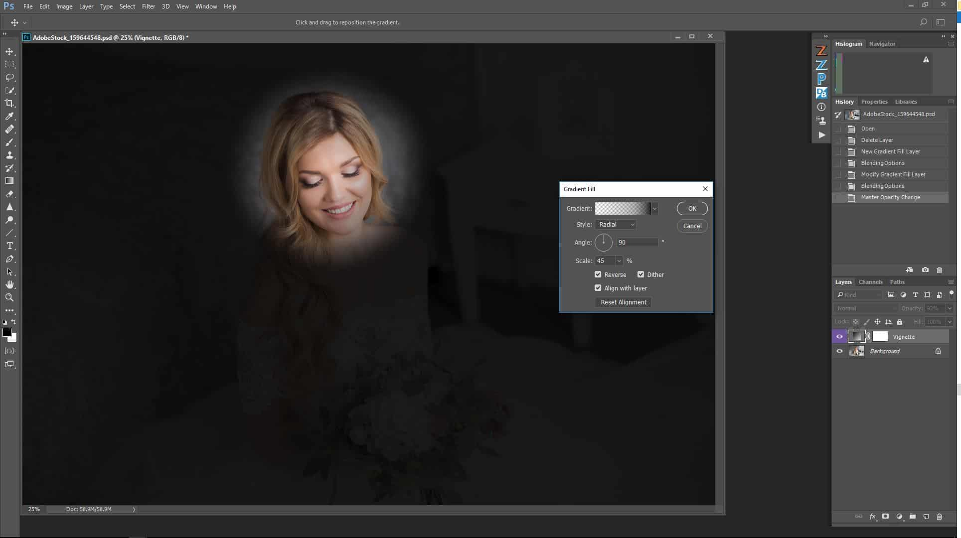 How to Create a Vignette Effect in Adobe Photoshop for Mac