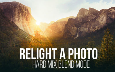 Relight a Photo with the Hard Mix Blend Mode