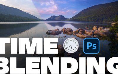 Time Blending Landscape Images with One Blend Mode