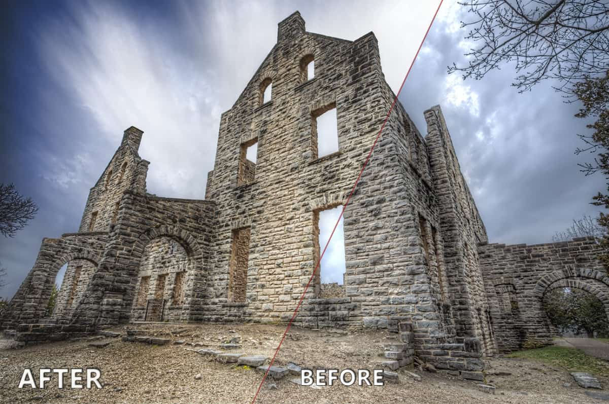 Before and After Topaz Labs Long Exposure Workflow