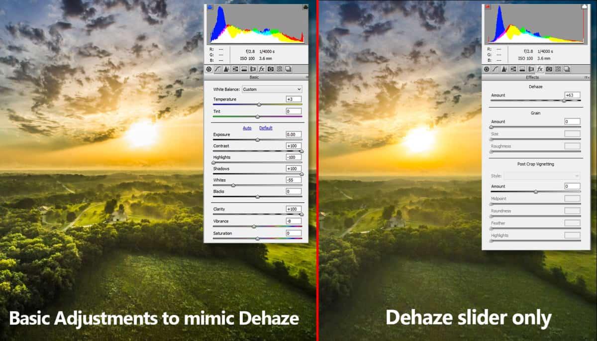 Dehaze in Photoshop Example