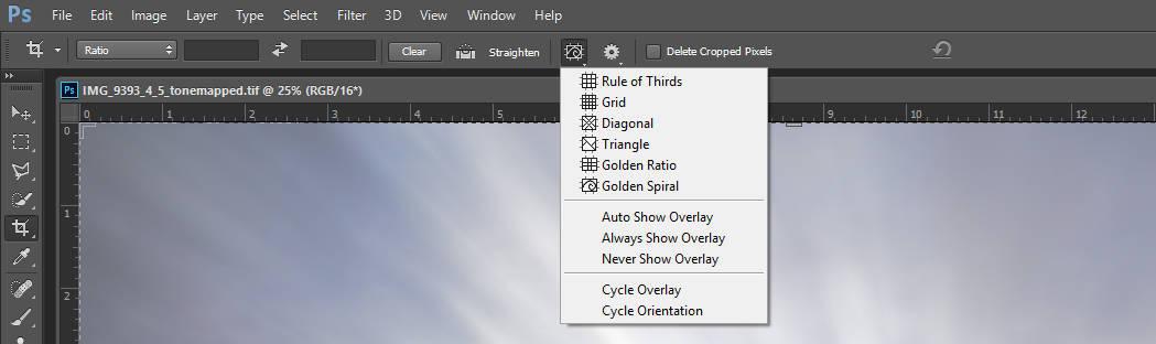 Crop Tool Features