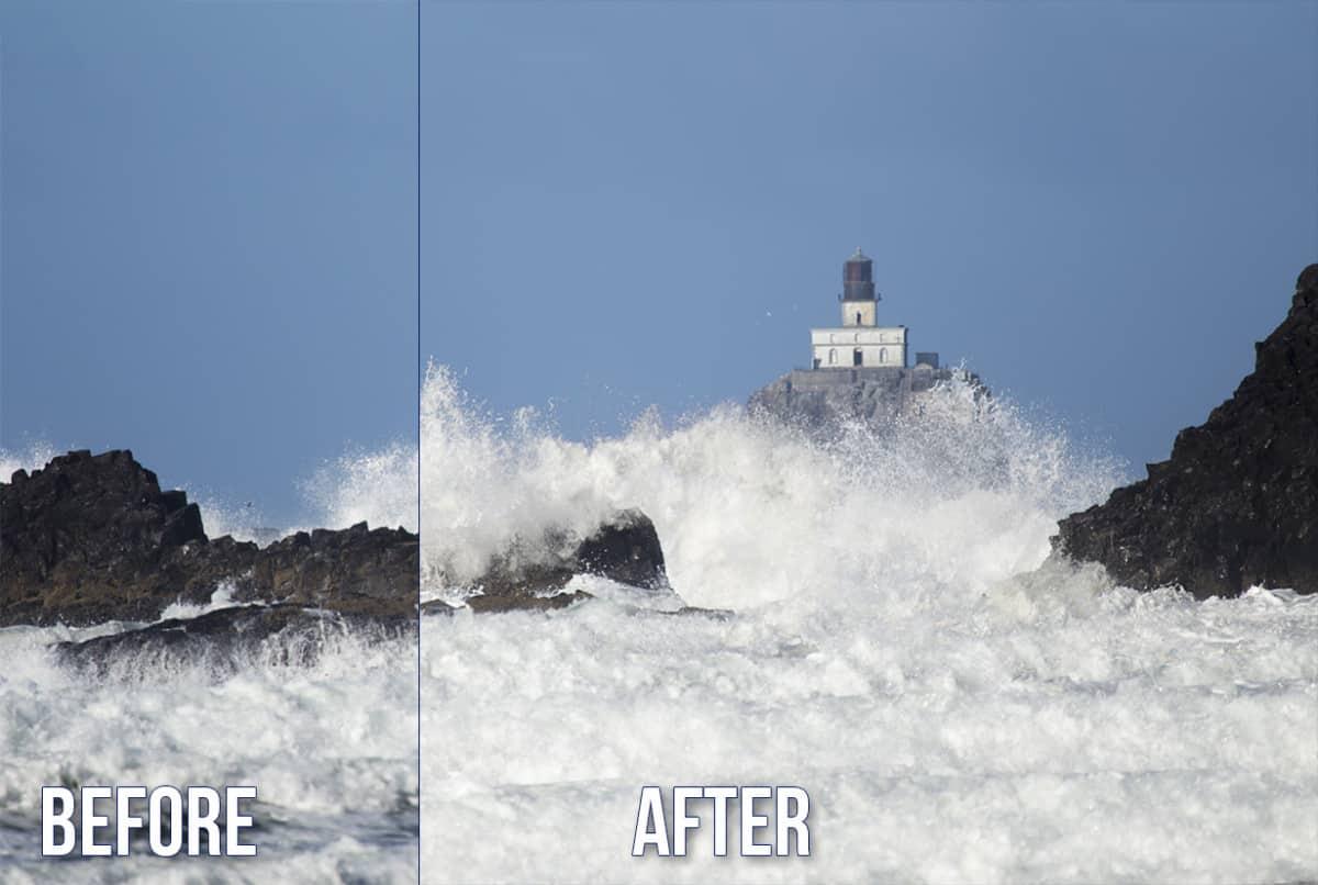 Before After Lighten Blend Mode