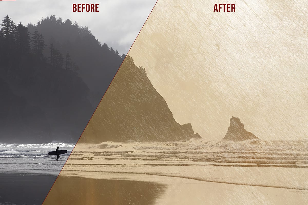 Before After Texture Effects 2
