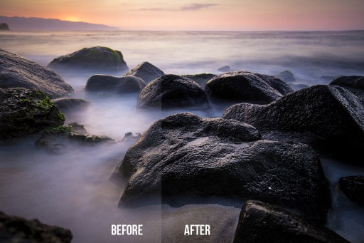 Before and After Adobe Camera Raw as a filter