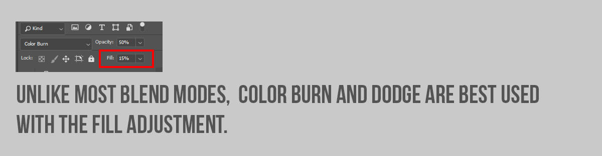 Color Dodge and Color Burn Example with Fill